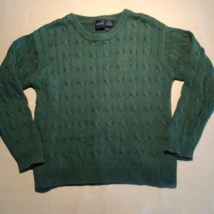 IZOD Green Knitted Sweater
